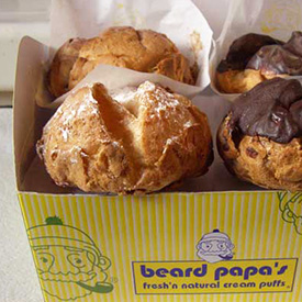 Beard Papa's cream puffs, made to order