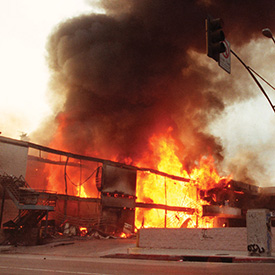 Fire during the LA Riots